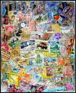 "Stamp Art: ""Damaged"""